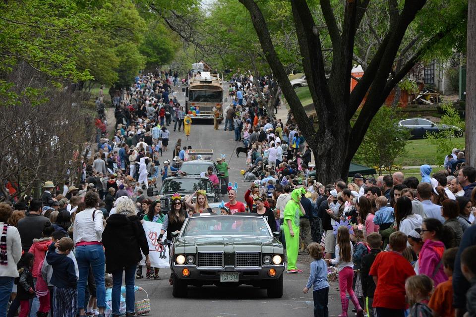 Easter, Parade, Neighborhood, Community, Street