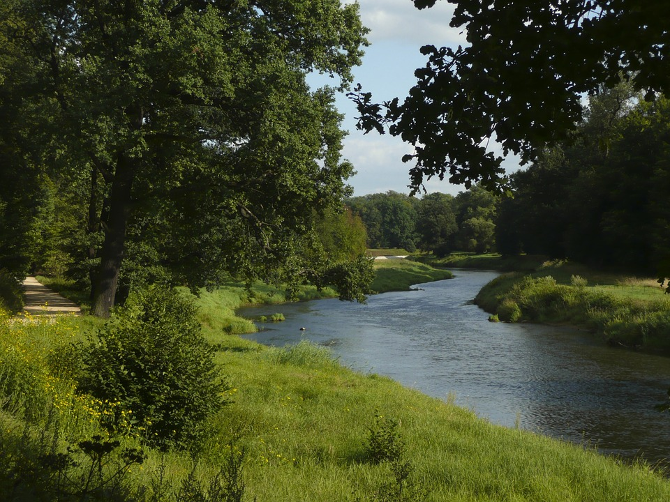Neiße, River, Germany, Poland, Green