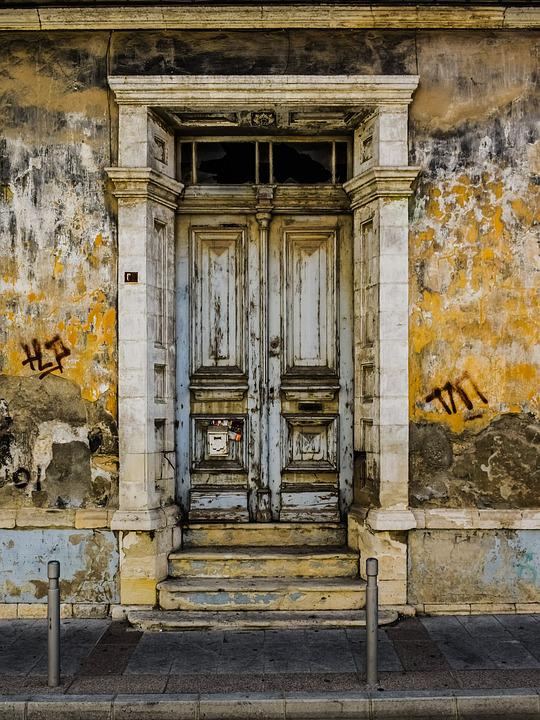Old House, Door, Architecture, Neoclassic, Vintage