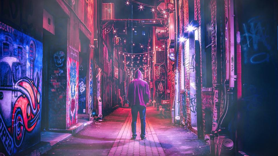 Cyberpunk, Neon, Night, Urban, Street, City, Japan
