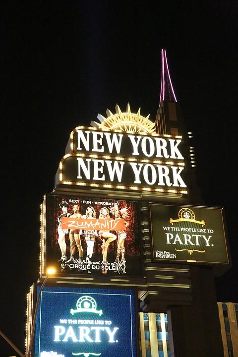 Las Vegas, Night View, Street View, City, Neon Light