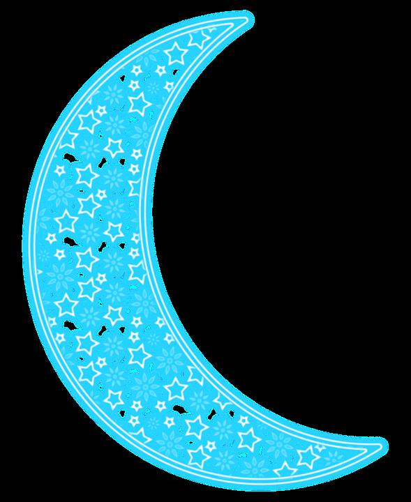 Moon, Transparent, Neon