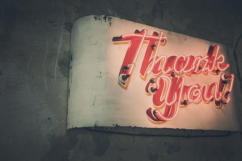 Thank You, Neon Lights, Neon, Advertising, Lighting