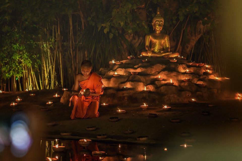Thailand, Asia, Neophyte, Buddha, Candle