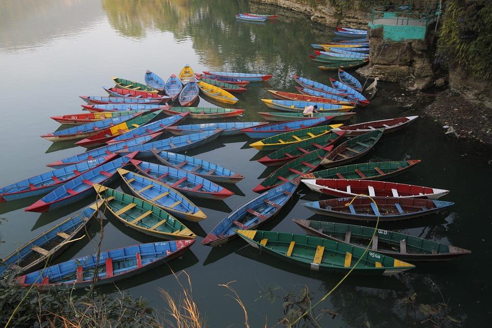 Boats, Nepal, Pokhara, Water, Lake, Fewa Lake