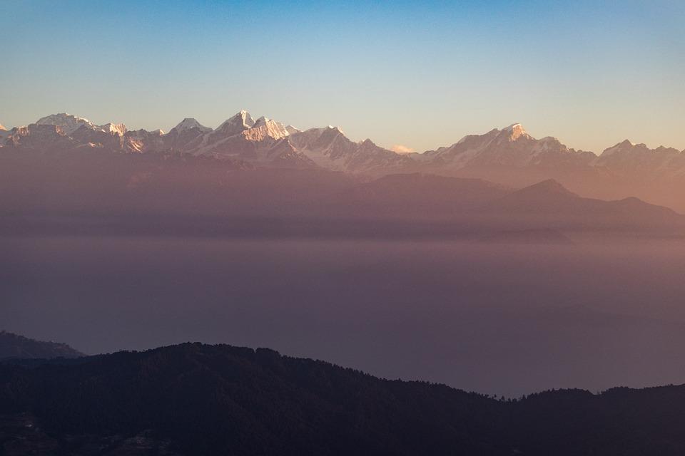 Himalayas, Sunrise, Nepal, Mountains, Landscape