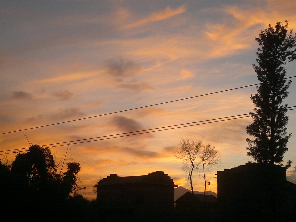 Nepali, The Evening Sky, Sky, Clouds, Outdoors, Scenic