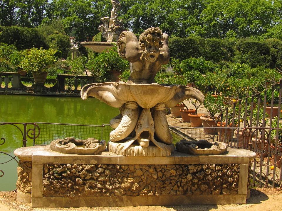Florence, Boboligarten, Neptune Statue
