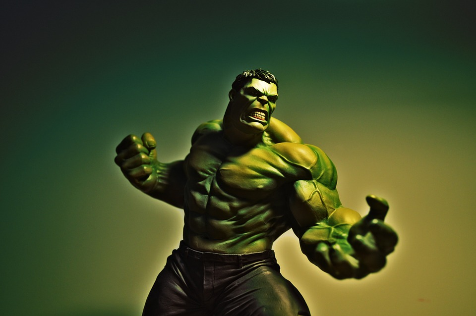 Hulk, Marvel, Actionfigure, Nerd, Statue