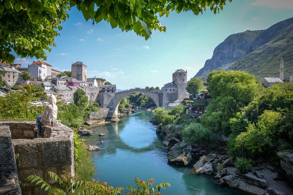 Mostar, Bridge, Herzegovina, Neretva