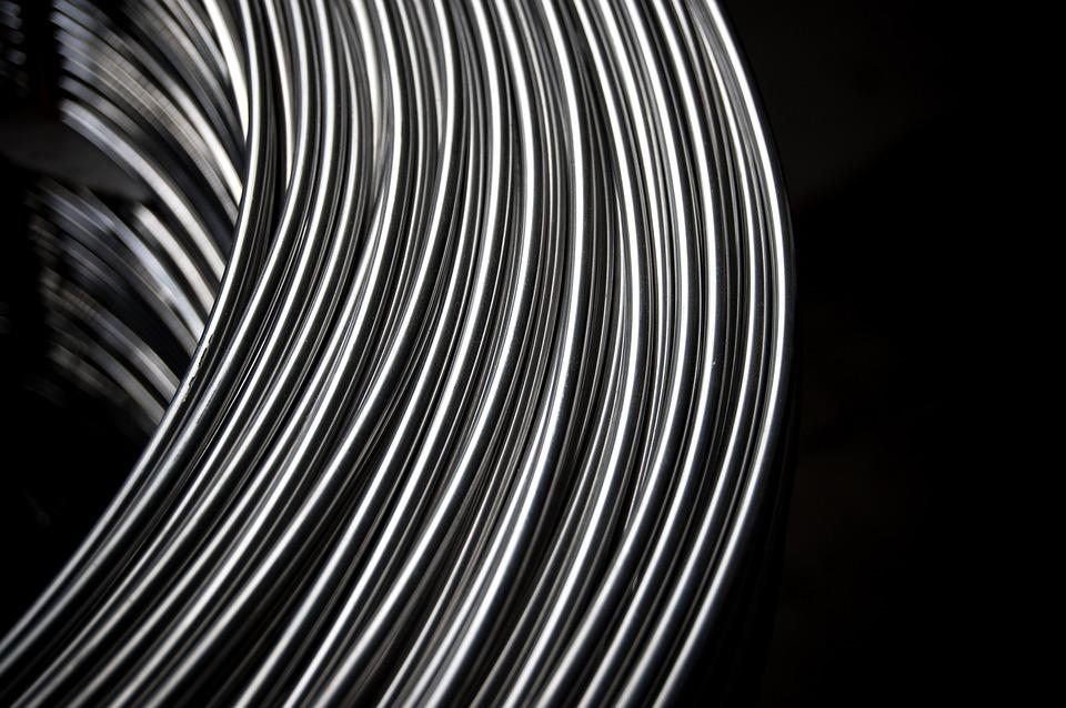 Steel, Metal, Thread, Nero, Industry, Texture