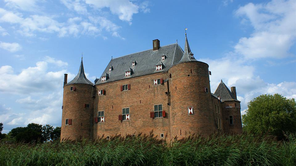 Castle, Ammersooyen, History, Architecture, Netherlands