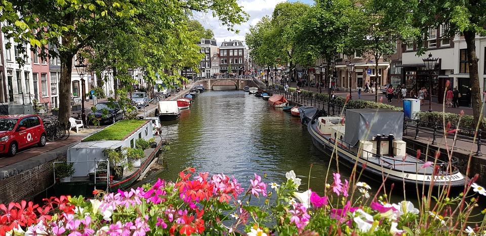 Amsterdam, Netherlands, Flowers, Holland, Channel