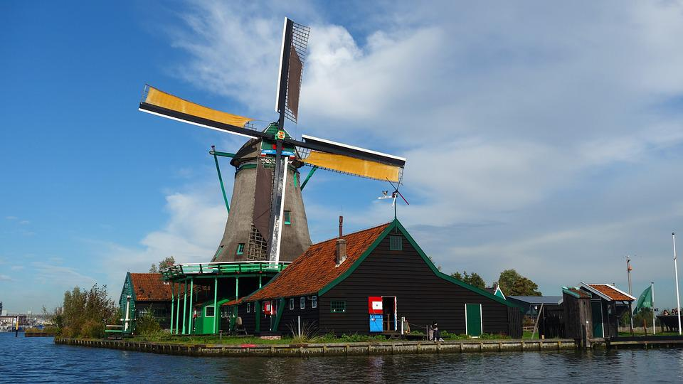 Zaanse Schans, Wind Mill, Tourism, Netherlands, Holland