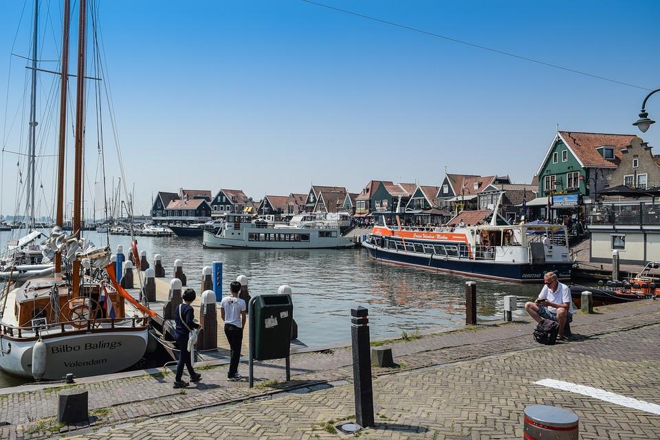Boats, Dock, Netherlands, Port, Sea, Water, Buildings