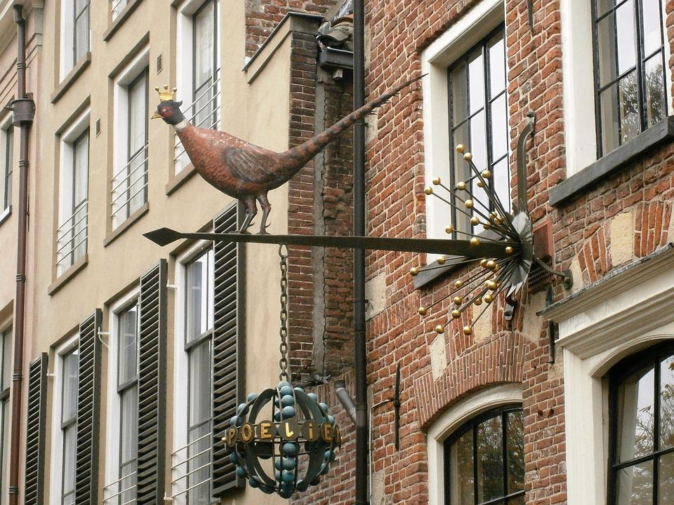 Shield, Pheasant, Facade, Deventer, Netherlands