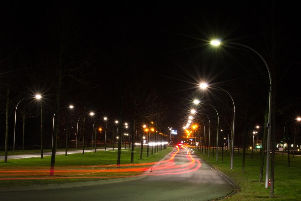 Night, Light, Street, Netherlands, Evening