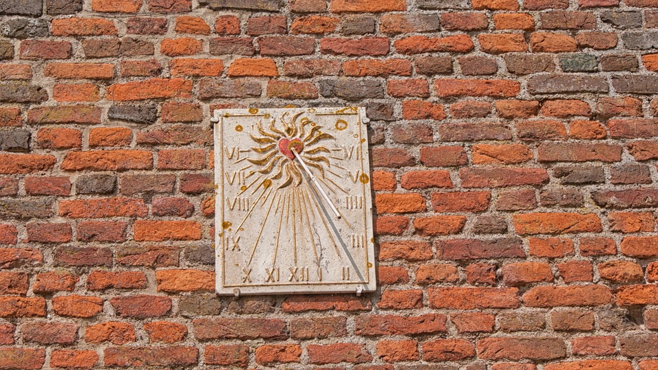 Castle, Sundial, Old, Old Wall, Netherlands, Sun