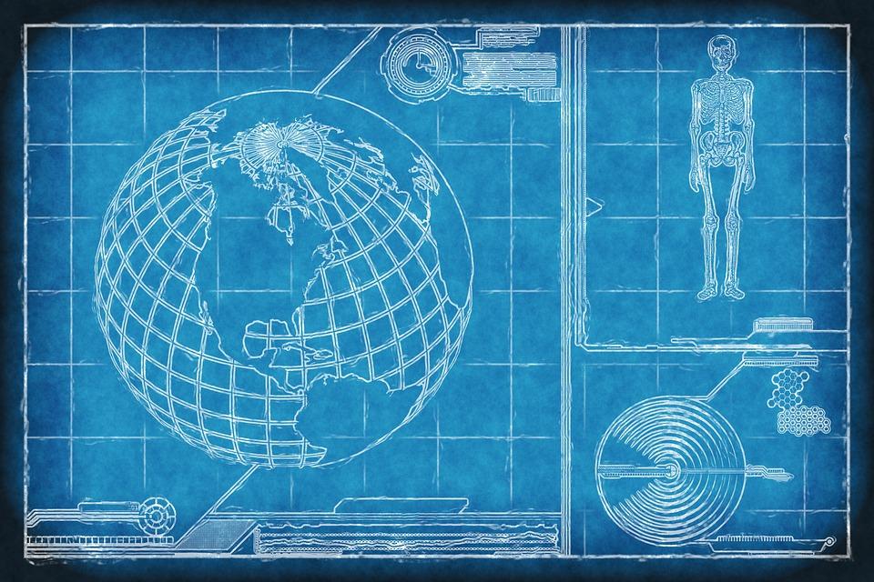 Communication, Technology, Blueprint, Internet, Network