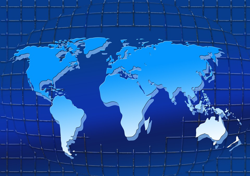 Grid, Web, Continents, World, Network, Braid, Lines