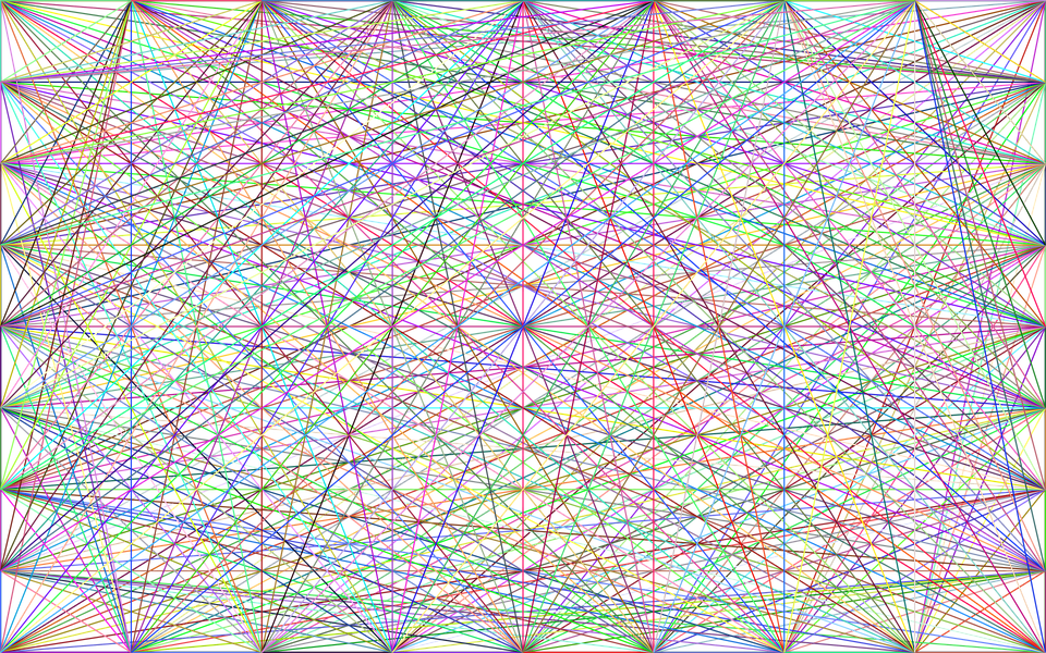 Network, Connections, Background, Wallpaper, Line Art