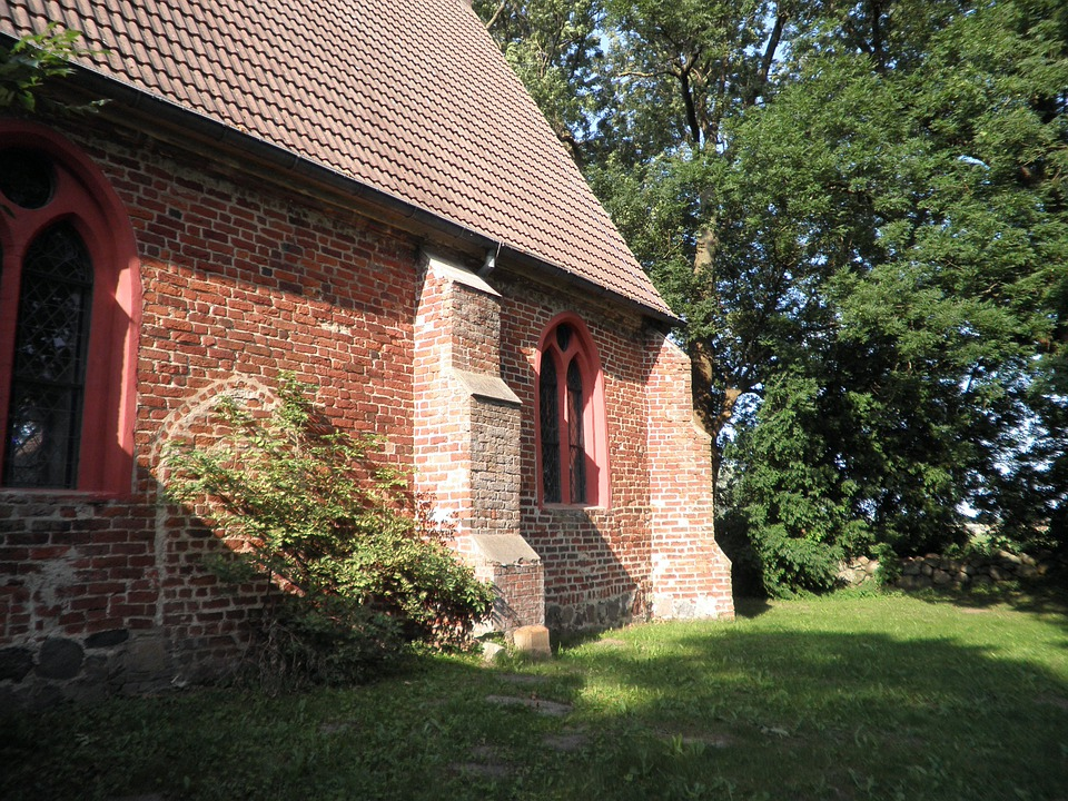 Village Church, Brick, Netzelkow, Island Of Usedom