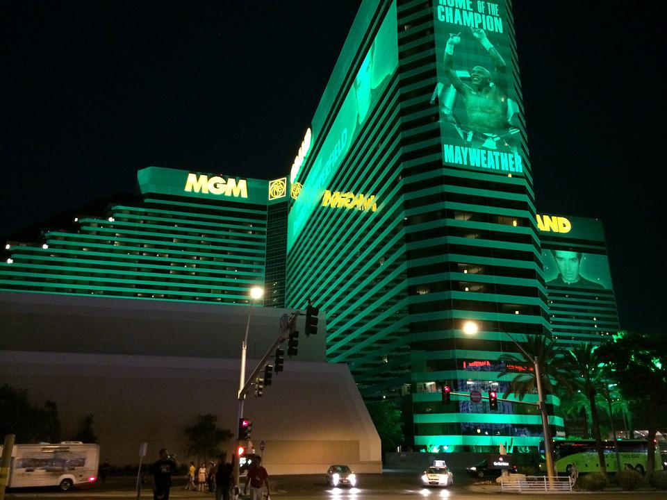 Mgm Grand, Las Vegas Strip, Nevada, Night, Casino
