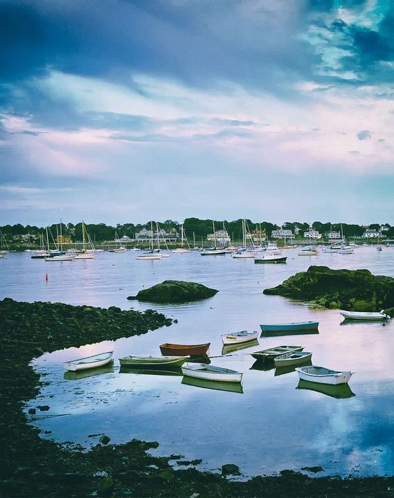 New England, Harbor, Bay, Water, Ships, Boats