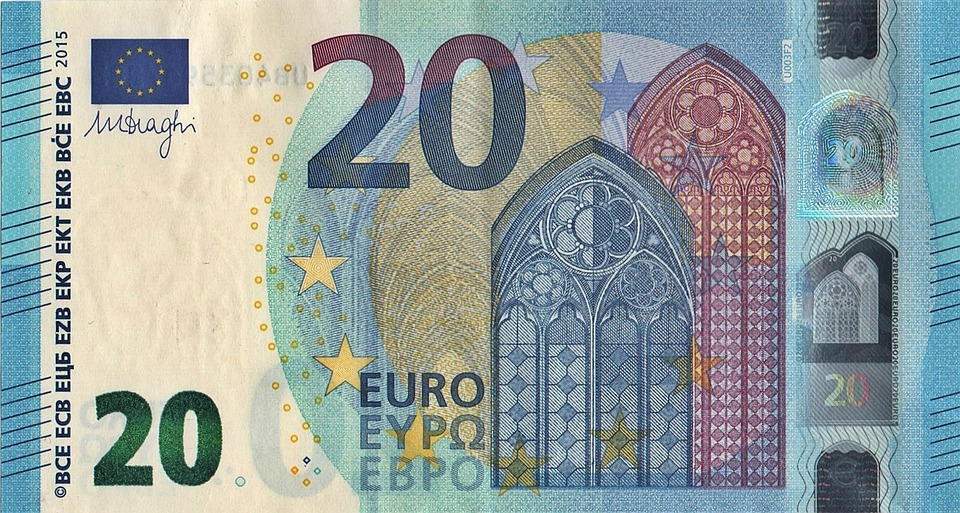Euro, Money, Banknote, Currency, 20 Euro, New