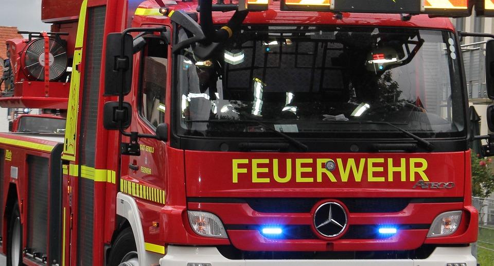 New Fire Truck, Partial View, Fire, Fire Truck