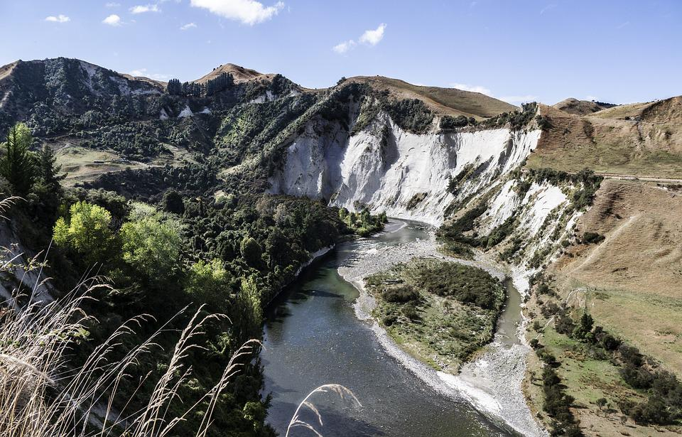 River, Central, North, Island, Nz, New, Zealand