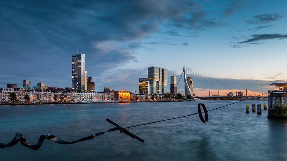 Rotterdam, New Mesh, Maastoren, Erasmus Bridge