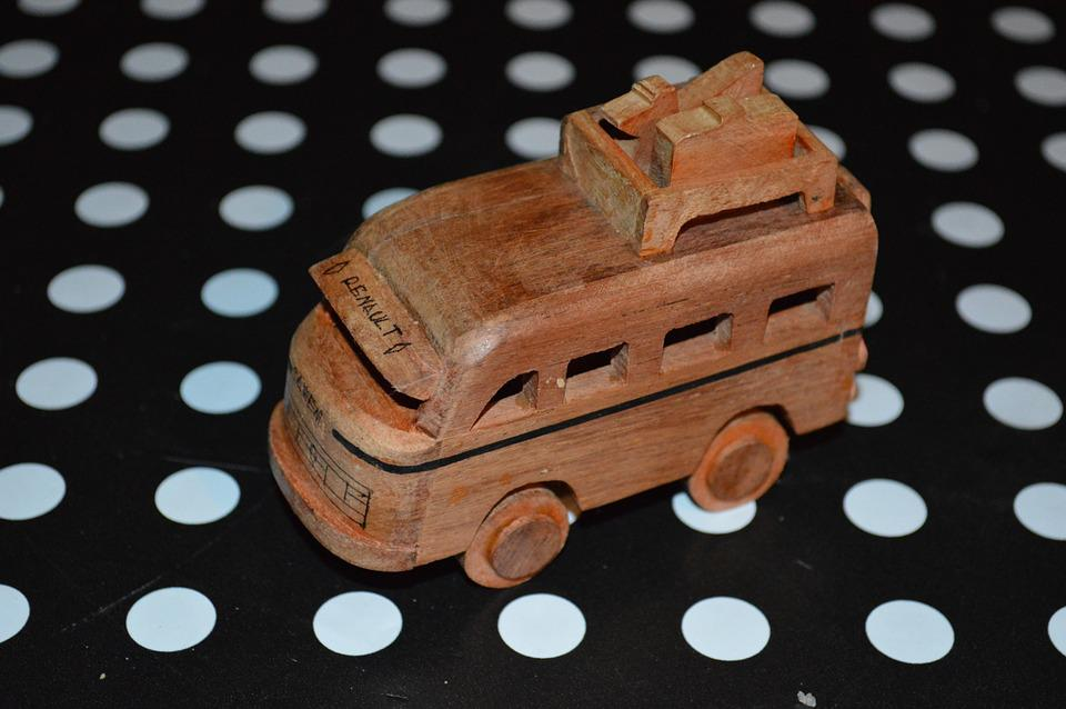 Wooden Car, Miniature, Wood, Car, Bona Fide, New