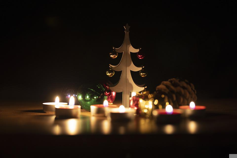 Christmas, New Year, Decoration, Background, Candles