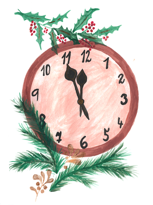 Clock, Midnight, New Year Day, Time, Celebration