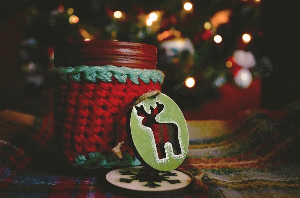 Christmas, New Year's Eve, Cup, Lights, Flashlights