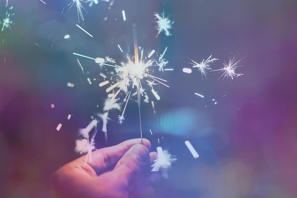 Sparkler, New Year's Eve, Festive, Firework