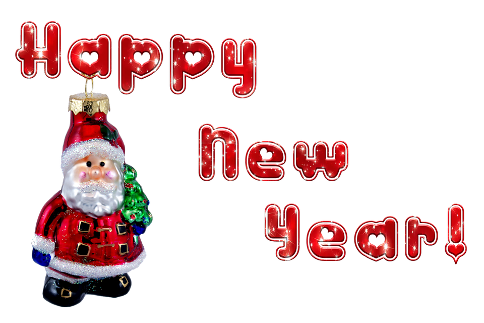 new years eve santa claus transparent background