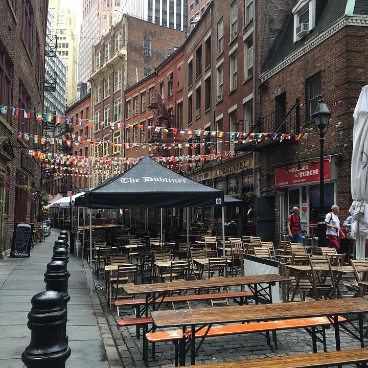 New York, Bar, Street