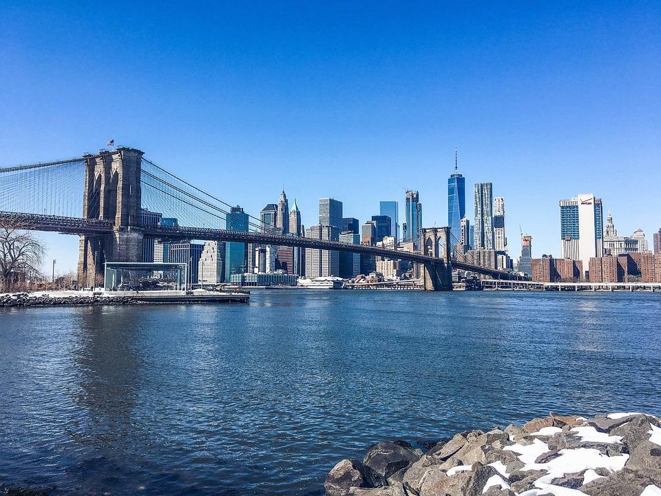 New York, Brooklyn Bridge, Brooklyn, Manhattan