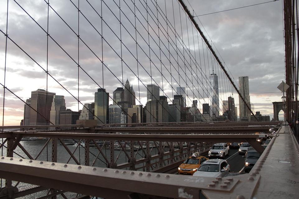 New York, Brooklyn Bridge, City, New York City, Bridge