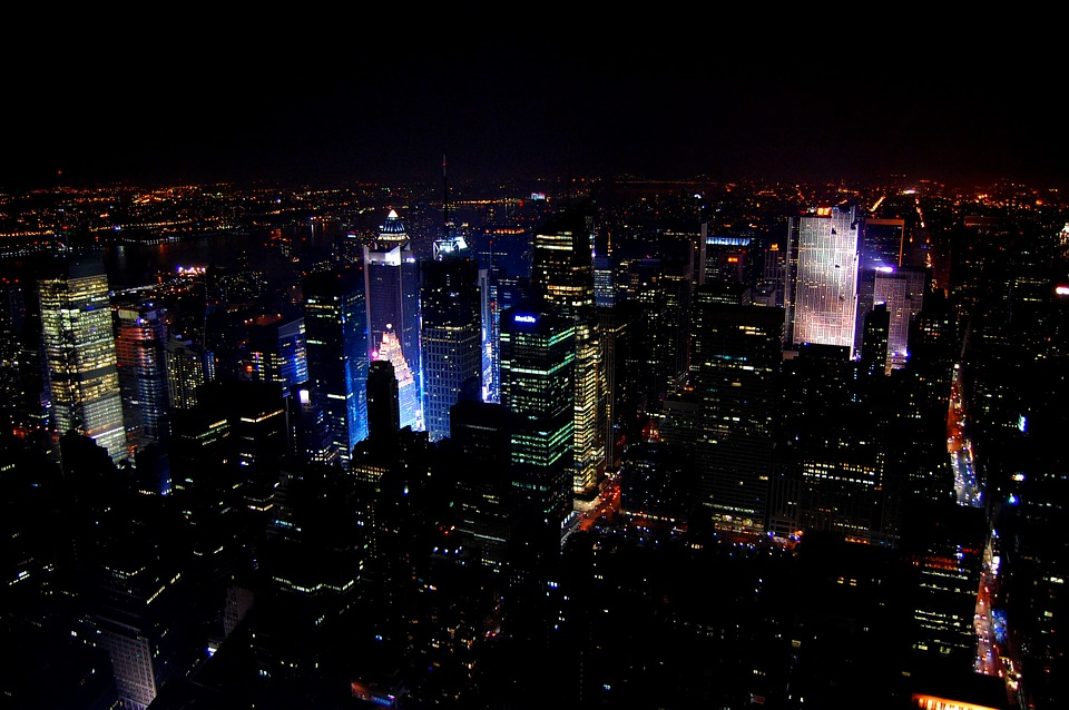 City, Views From The Top, Light, Urban, New York