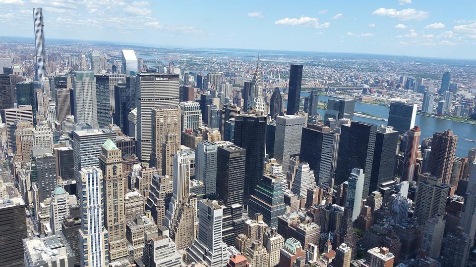 New York City, Skyline, Skyscrapers, New York