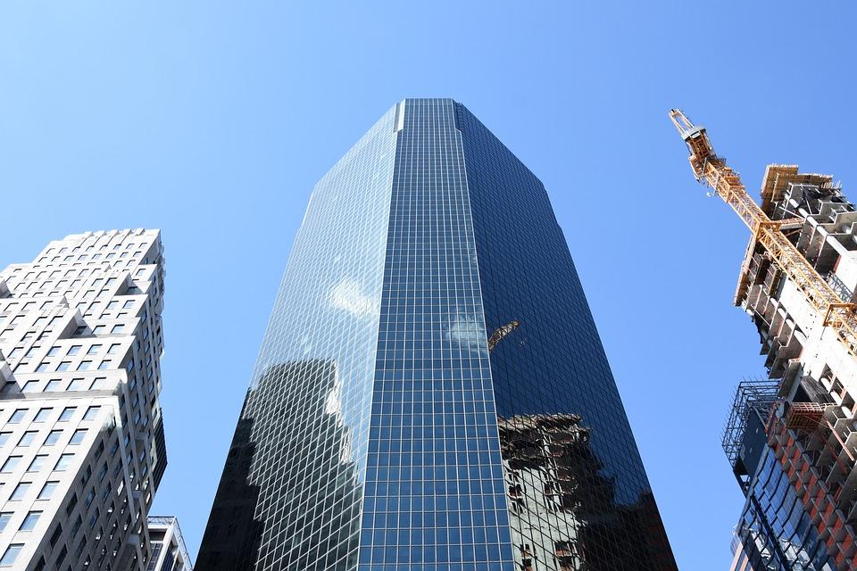 Skyscraper, Mirroring, New York, New York City, Usa