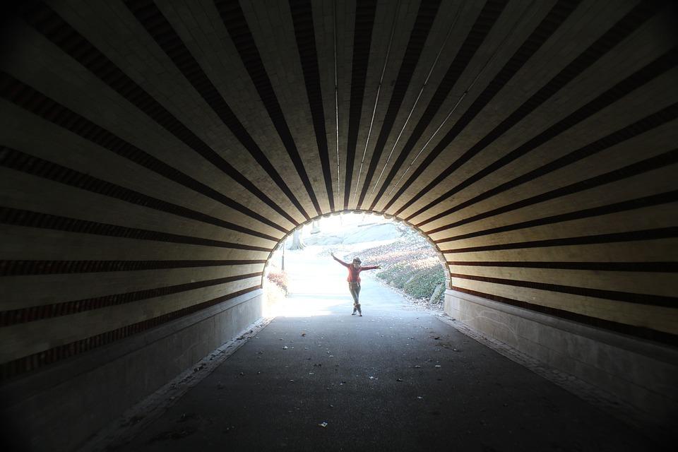 Light, Tunnel, Central Park, Order, New York