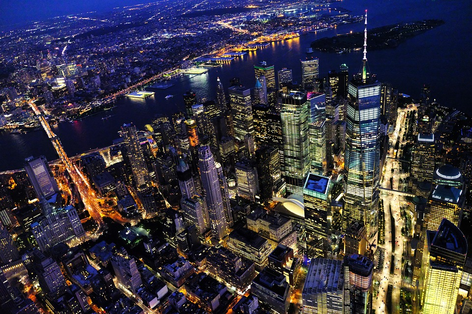 New York, Cityscape, Night, City, Manhattan