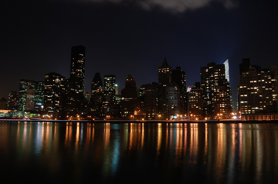 New York, Manhattan, Usa, Ny, Night