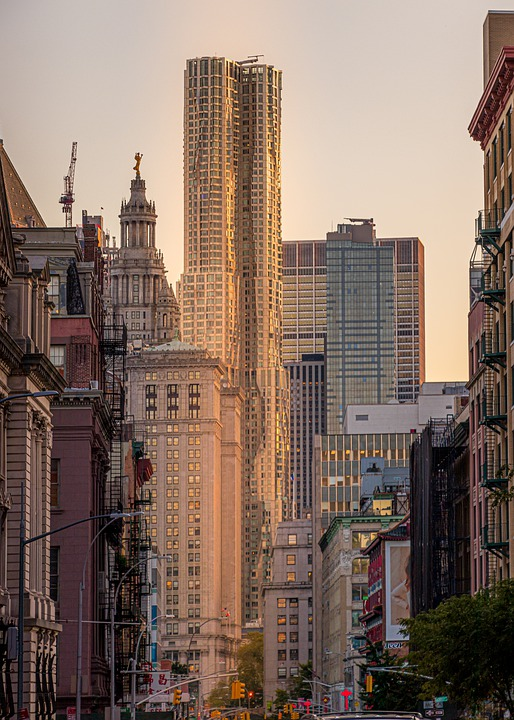 Usa, New York, City, View, Architecture, Photo, Sky