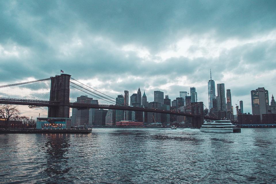 Brooklyn Bridge, Skyline, New York, Nyc, Skyline Nyc