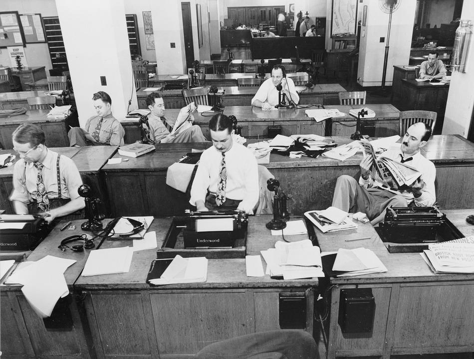 New York Times Newspaper, Press Room, 1942, Reporter